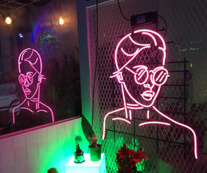art, decoration, and neon image