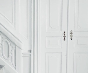 aesthetic, door, and white theme image