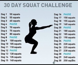 workout, motivation, and squat image