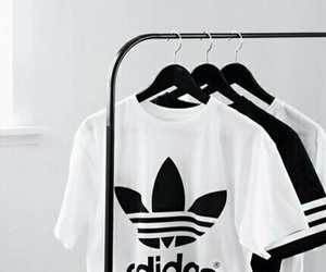 adidas, white, and black image