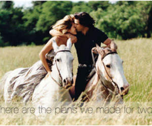 love, horse, and couple image