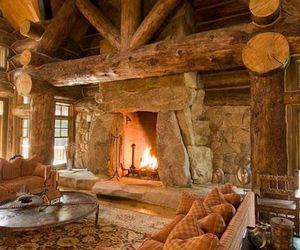home, fireplace, and house image