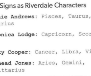 virgo, riverdale, and betty cooper image