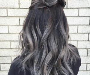 black, hairstyle, and hair image