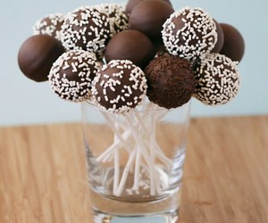 chocolate, cake pops, and food image