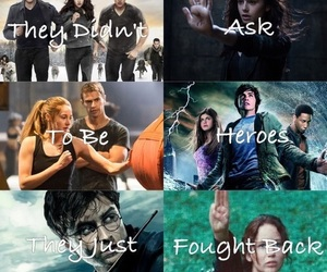 harry potter, divergent, and twilight image
