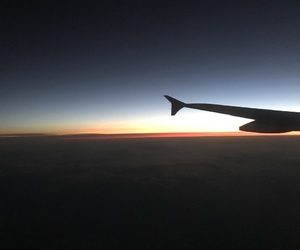plane, ugh, and sunsets image