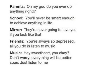 music, parents, and school image
