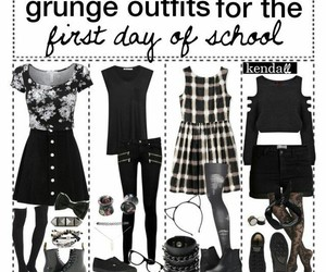 black & white, grunge, and outfit inspo image