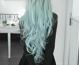 blue, hairstyle, and sweet image