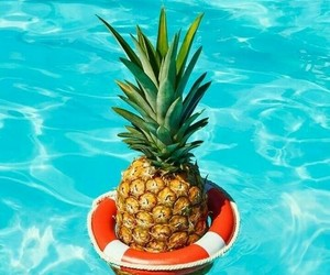 summer, pineapple, and pool image