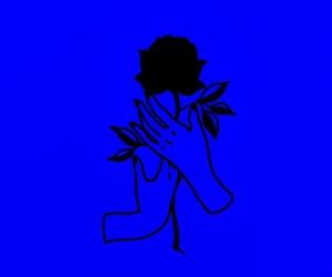 aesthetic, blu, and dark blue image