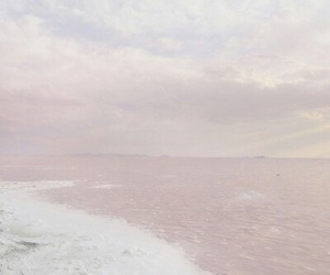 pink, sea, and pale image