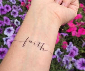 tattoo, faith, and flowers image