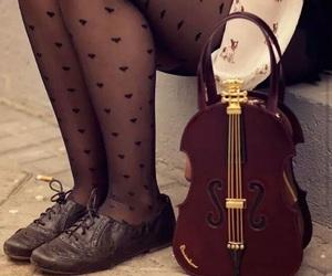 bag, girl, and music image