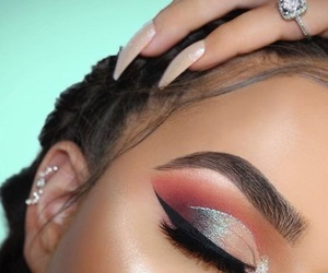 chanel, glitter, and makeup image