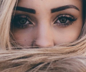 blond, brown, and eyes image