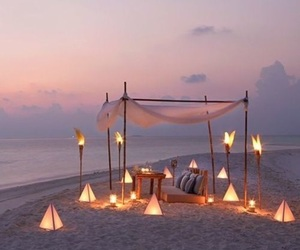 beach, summer, and summerlights image