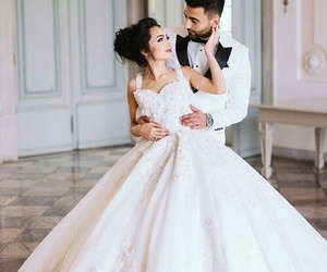 beautiful, couple, and wedding image