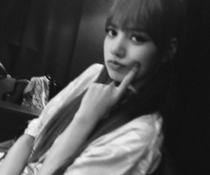 black and white, icons, and kpop image