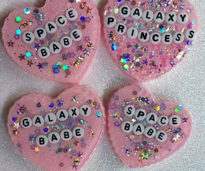 glitter, heart, and kawaii image