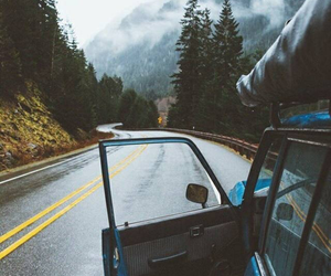 travel, car, and road image