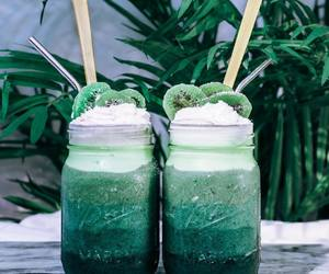drink, green, and kiwi image