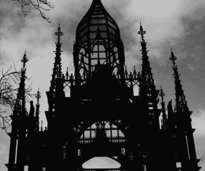 architecture, black, and Darkness image