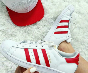 adidas, red, and superstar image