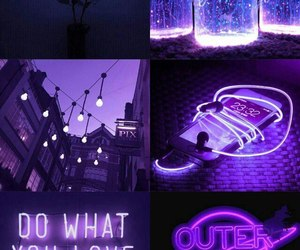 Collage, neon, and purple image