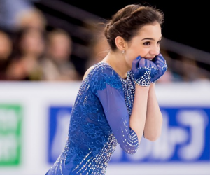 excited, ice skater, and evgenia medvedeva image