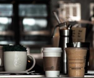 coffee, starbucks, and coffee shop image