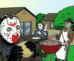 barbecue, halloween movie, and a nightmare on elm street image