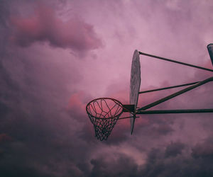 sky, Basketball, and pink image