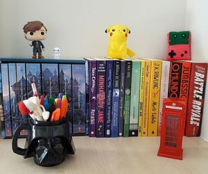 books, estante, and harry potter image