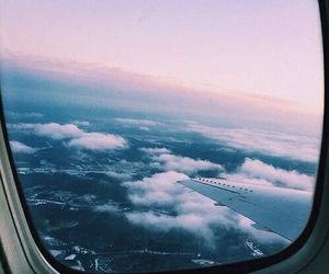 beautiful, plane, and window image