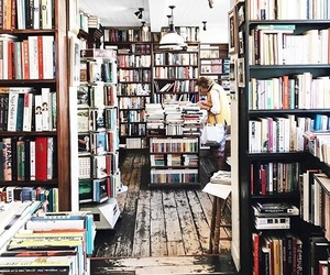 books, bookstore, and cold image