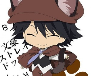 cat ears, chibi, and bungou stray dogs image