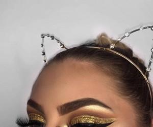 cat ears, dress, and makeup+highlight+glow image