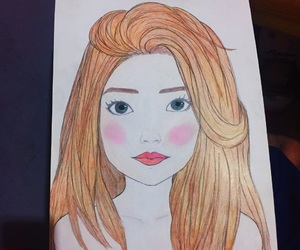 art, girl, and disney image