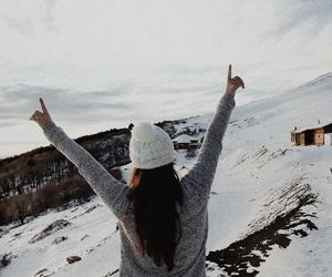 enjoy, happy, and mountain image