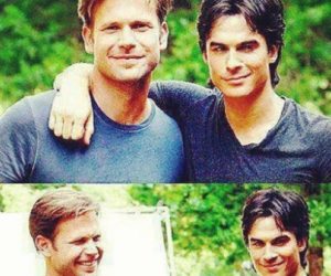 tvd, alaric, and ian somerhalder image