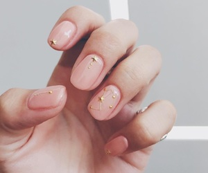 constellation, nails, and pink image