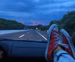 converse, red, and sunset image
