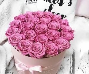 box, girl, and pink image