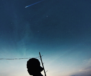 awesome, nature, and shooting star image