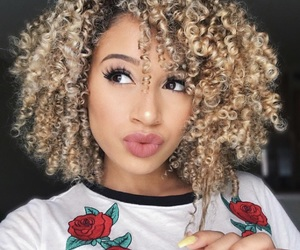 youtuber, blonde, and curls image
