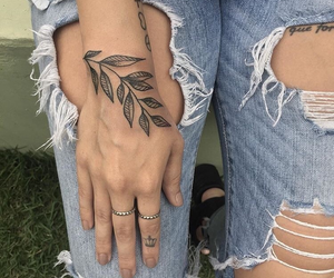 leaves and tattoo image