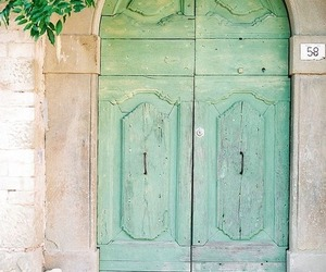 doors, mint, and mint green image