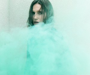 mint, smoke clouds, and mint green image